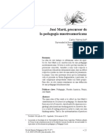 Jose Marti. El Precursor de La Pedagogia Latinoamericana. Carla Wainsztock