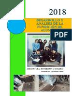 Desarrollo y Analisis de La Fundicion de Aluminio