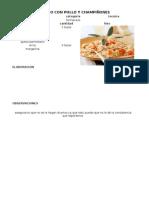 Receta Standar de Arroces y Pastas