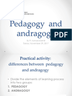 TAU Pedagody and Androgogy