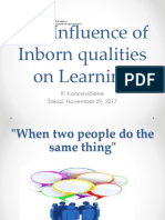 TAU the Influence of Inborn Qualities on Learning
