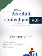 TAU Adult Student Portrait