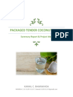 Preliminary Project Report and Business Idea on Tender Coconut Water