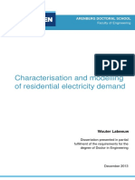 Characterisation and modelling of residential electricity demand