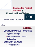 Steve Revay - Common Causes for Project Overruns