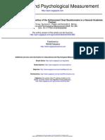 Achievement Goal Questionnaire in a General Academic Context