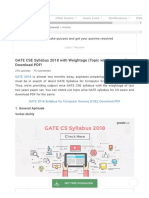 GATE CSE Syllabus 2018 With Weightage (Topic Wise), Download PDF!