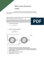 Circulo de Mohr Para Esfuerzos Bidimensionales