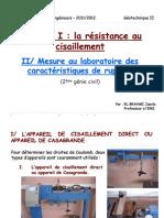 Resistance Au Cisaillement