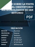 Informe Sobre La Visita Guiada Al Obsevatorio Meteorológica