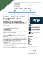 Cara Flash Samsung Galaxy J1 Mini J105F Dijamin Work 100% by Localtechno