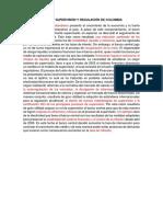 Caso de Supervisión y Regulación de Colombia