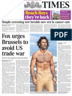 The Times and the Sunday Times E-paper - The Times - 1 Jun 2018 - Page #1