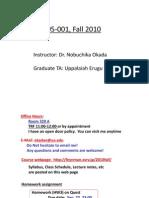 Ph105 notes - Sep 17