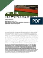 Ha Ha_The Weirdness of Walls_Symposium Programme_final