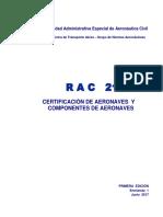 RAC 21 Certificación de Aeronaves y Componentes de Aeronaves