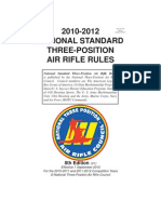 2010-2012 National Standard Three-position Air Rifle Rules