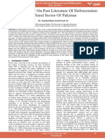 Critical Review on Past Literature of Deforestation in Rural Sector of Pakistan