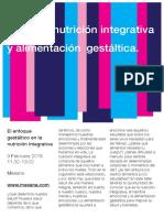 Taller de nutrición integrativa y alimentación gestática.
