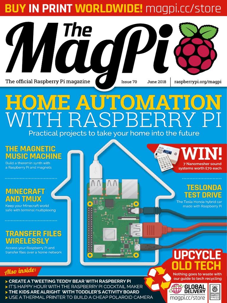 Magpi70 Raspberry Pi Closed Circuit Television Wiringpi C Mono