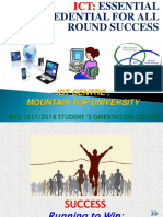 Mountain Top University - Fresh Student Orientation Lecture