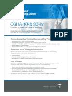 OSHA 10-30 Hour Course List-1