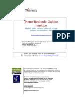 Pietro Redondi Galileo Herético