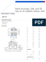 Split plummer block housings, SNL and SE series for bearings on an adapter sleeve, with standard seals - SNL 517 + 1217 K + H 217