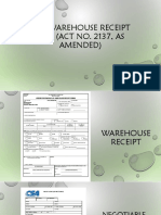 Warehouse Receipt Law