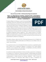 """NOTA DE PRENSA N° 008 - ARMA Y EL MINISTERIO DE VIVIENDA, CONSTRUCCIÓN Y SANEAMIENTO, REALIZARÁN IMPORTANTE TALLER REGIONAL EN """"CAPACITACIÓN EN MATERIA AMBIENTAL PARA LA GESTIÓN DE PROYECTOS DE INVERSIÓN EN AGUA Y SANEAMIENTO"""""""