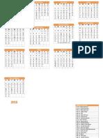 2018 Hindu Calendar