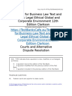Test Bank for Business Law Text and Cases Legal Ethical Global and Corporate Environment 12th Edition Clarkson