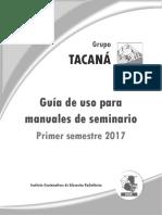 Guia Seminario Tacana 17
