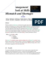 Talent Management Another Look at Skills Mismatch and Shortages