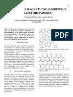 MATERIALES MAGNÉTICOS AMORFOS EN TRANSFORMADORES
