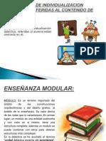 Propuestas de Individualizacion Didactica Referidas Al Contenido De