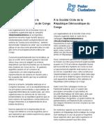 Communiqué de la Fundación Vía Libre et de Poder Ciudadan - 1er juin 2018