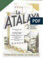 La Atalaya 15 de mayo de 1960