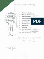 Sample Measurement Sheet