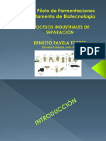 Procesos de Separacion Industrial