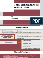 Diagnosis and Management of Breast Cysts