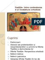 Sfânta Tradiție- Între Contestarea Sectară Și Învățătura Ortodoxă