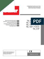 Baltur TBL 85, 105, 130, 160, 210 Manual