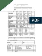 Ficha de Evaluacion Fonoaudiológica San Marcelo