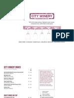 City Winery DC Dinner