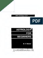 Astrology for Beginners BVRaman_text
