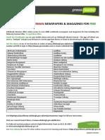 German PressReader Titles