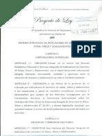Proyecto de Ley Escaneado - Sistema Integrado de Indicadores de Derechos de Niñas, Niños y Adolescentes