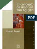 El Concepto de Amor en San Agustin Hannah Arendt 04-10-2013 PDF