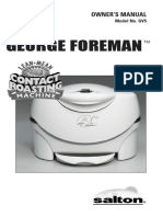 George Foreman Contact Roaster Gv5
